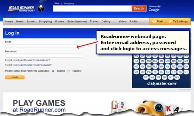 How the User Can Easily Login in the RoadRunner Email - Ranker Online