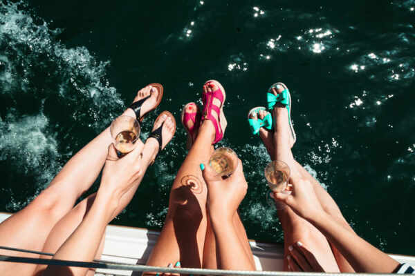 party on a boat