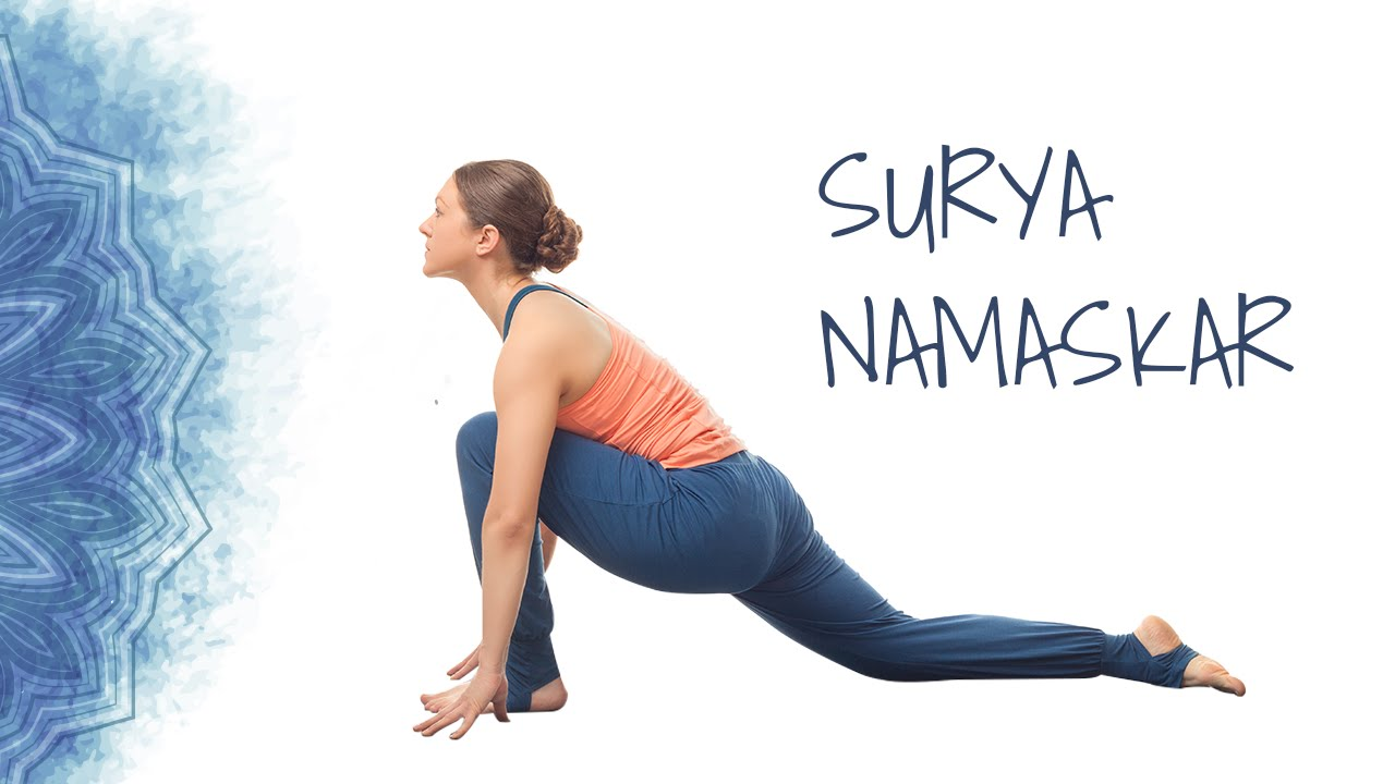 12 poses of Surya namaskar